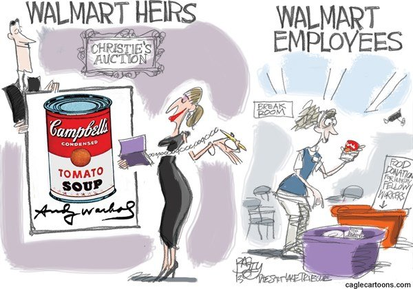Walmart Welfare Queens #140353 By Pat Bagley, Salt Lake Tribune